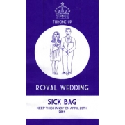 royal wedding sick bag