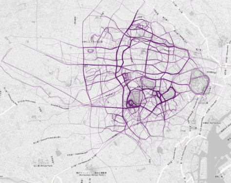 tokyo running map