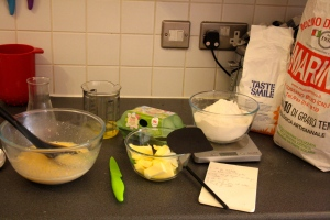 colomba baking first step butter