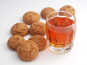 Amaretti biscuits and Amaretto liquor