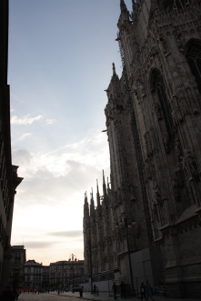 sunset city milan