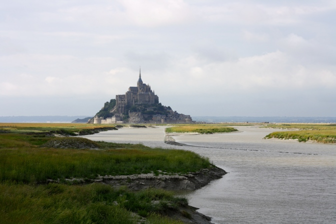 Mont Saint Michel, an odd jewel in the Normand countryside, France
