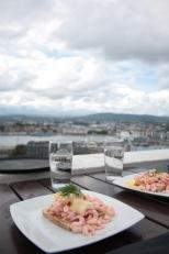 Shrimps sandwich with a view...http://www.ekebergrestauranten.no/no/