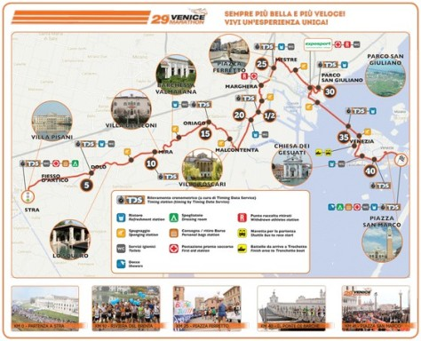 Venice Marathon 2014 route