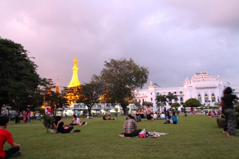 Yangon city Hall, from the Maha Bandoola Gardens