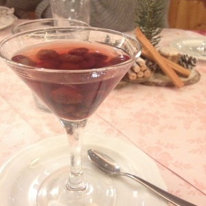 A well deserved grappa with wild berries after a heavy mountain meal...